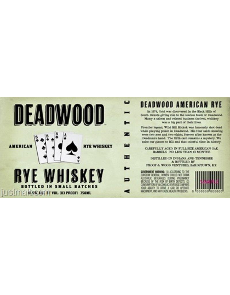 Rye Whiskey Deadwood Rye 41.4% 750ml