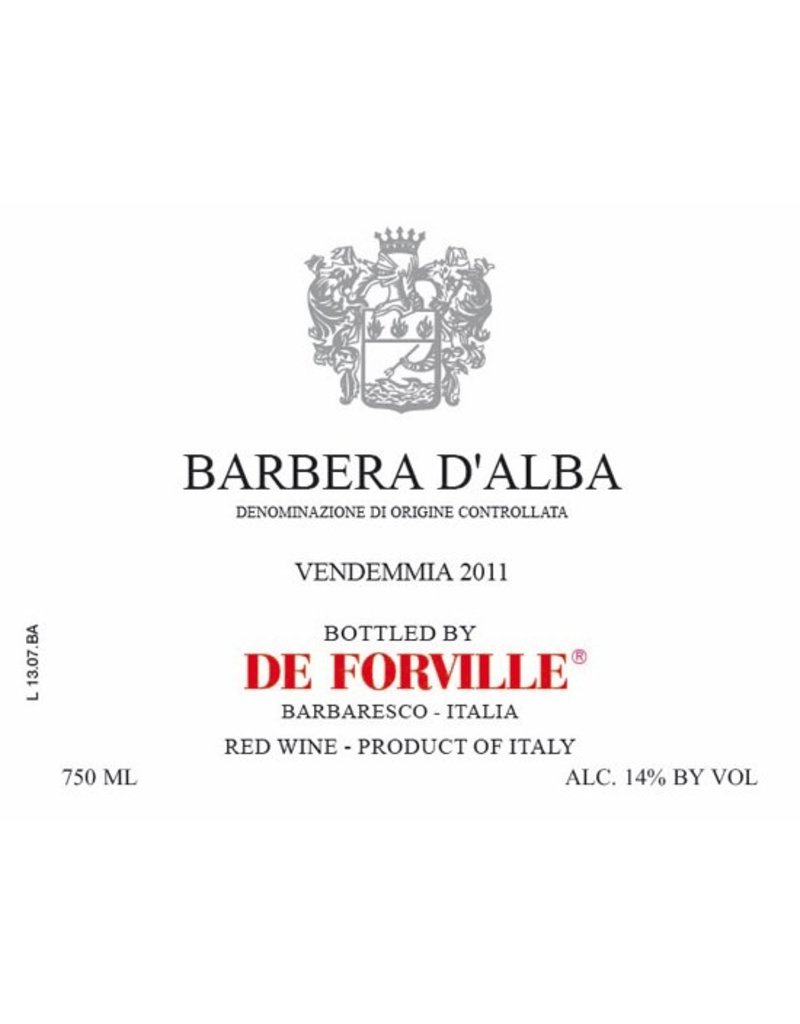 Italian Wine De Forville Barbera d'Alba 2015 750ml