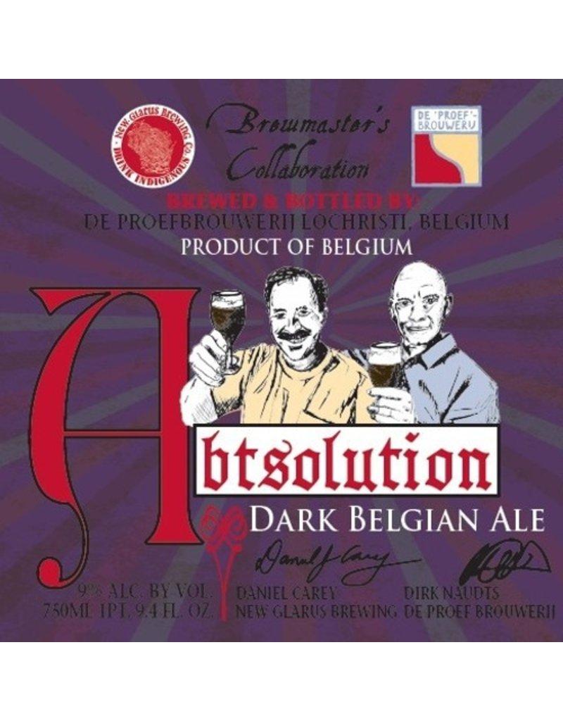 Beer Abtsolution Dark Belgian Ale New Glarus/De Proef Collaboration 750ml