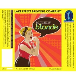 "Beer Lake Effect Brewing ""Bitchin' Blonde"" Belgian Style Blonde Ale 750ml"