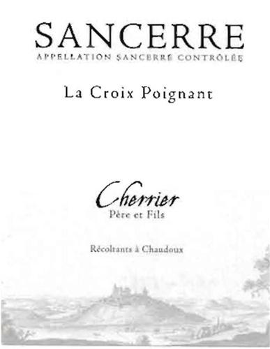 """French Wine Cherrier Pere et Fils Sancerre """"La Croix Poignant"""" Blanc 2016 750ml"""