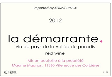 """French Wine Maxime Magnon """"La Démarrante"""" Corbiéres Rouge 2015 750ml"""