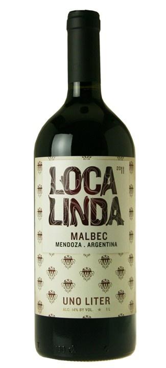 South American Wine Loca Linda Malbec Mendoza Argentina 1L 2016 750ml
