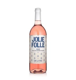 French Wine Jolie Folle Rosé Mediterrannée 2016 1L