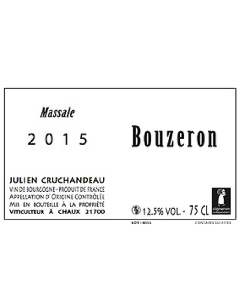 "French Wine Julien Cruchandeau Bouzeron ""Massale"" Aligote 2015 750ml"