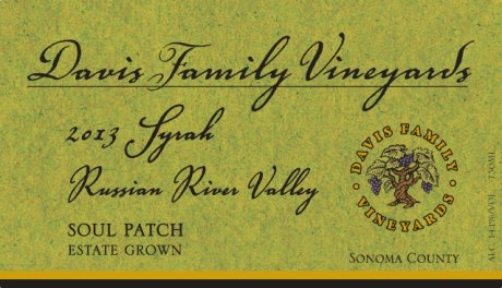"American Wine Davis Family Vineyards Syrah ""Soul Patch Estate"" Russian River Valley 2011 750ml"
