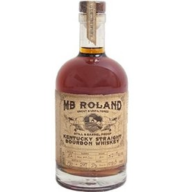 Bourbon MB Roland Kentucky Staight Bourbon Whiskey Aged 2 Years Uncut & Unfiltered Still & Barrel Proof 55.3% abv 750ml