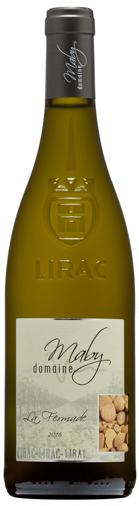 "French Wine Domaine Maby ""La Fermade"" Lirac Blanc 2016 750ml"