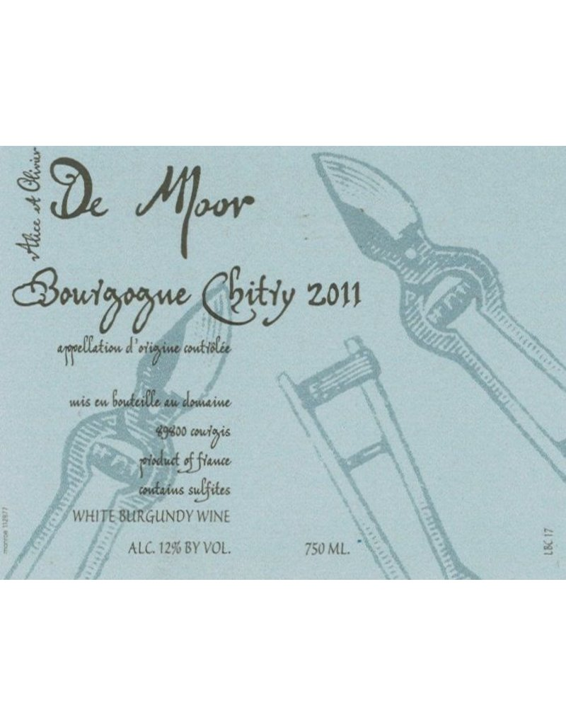 French Wine De Moor Bourgogne Chitry Blanc 2015 750ml