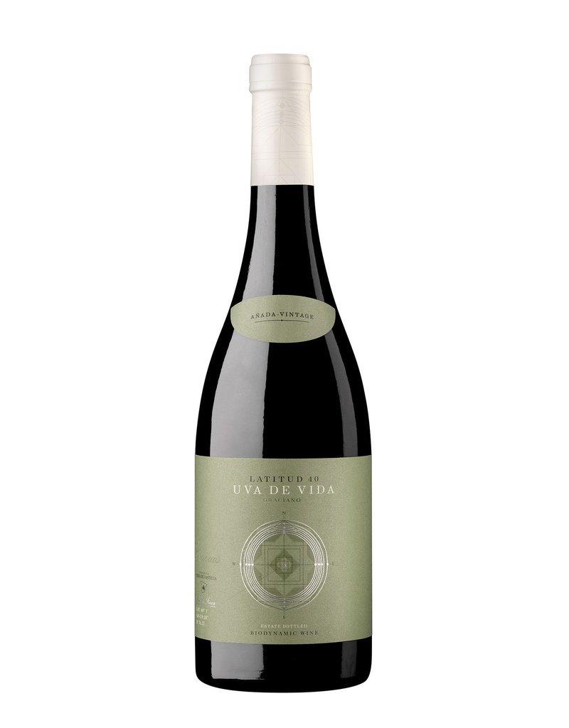 """Spanish Wine Uva de Vida """"Latitude 40"""" Graciano Vino de la Tierra de Castilla 2015 750ml"""