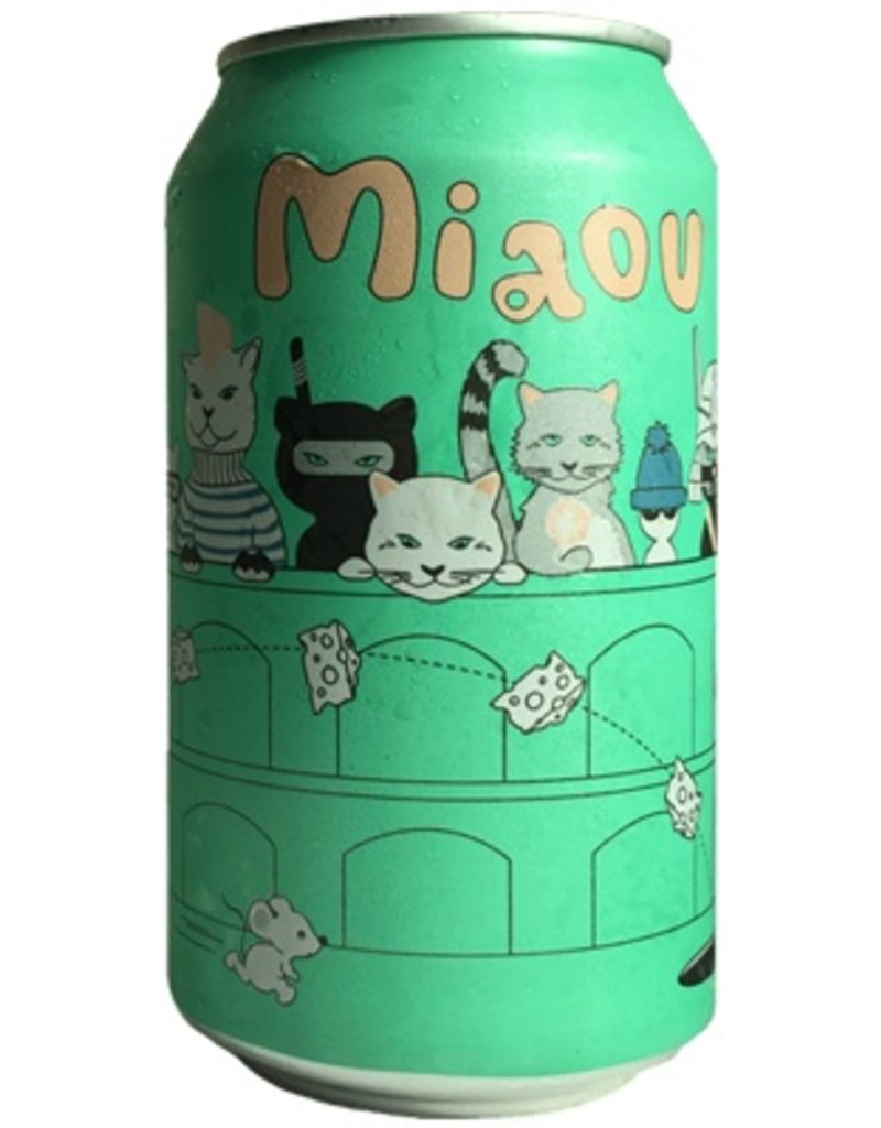 """Beer Whiner Beer Company """"Miaou"""" Belgian Style Wheat Ale 6 Pack Cans"""