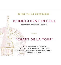 "French Wine Celine & Laurent Tripoz Bourgogne Rouge ""Chant de la Tour"" 2015 750ml"