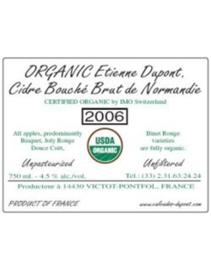 Cider Etienne Dupont Cidre Bouché Brut de Normandie Organic 2014 750ml