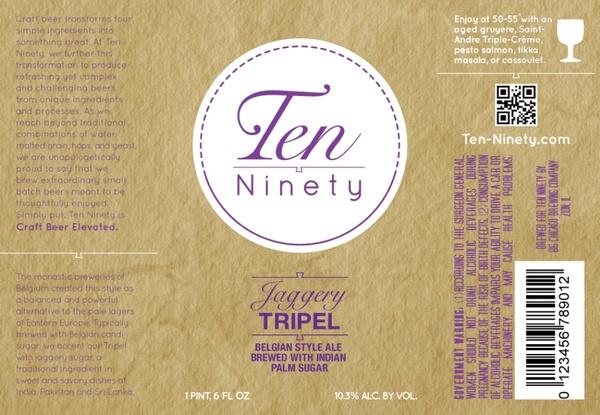 Beer Ten Ninety Jaggery Triple Ale 750ml
