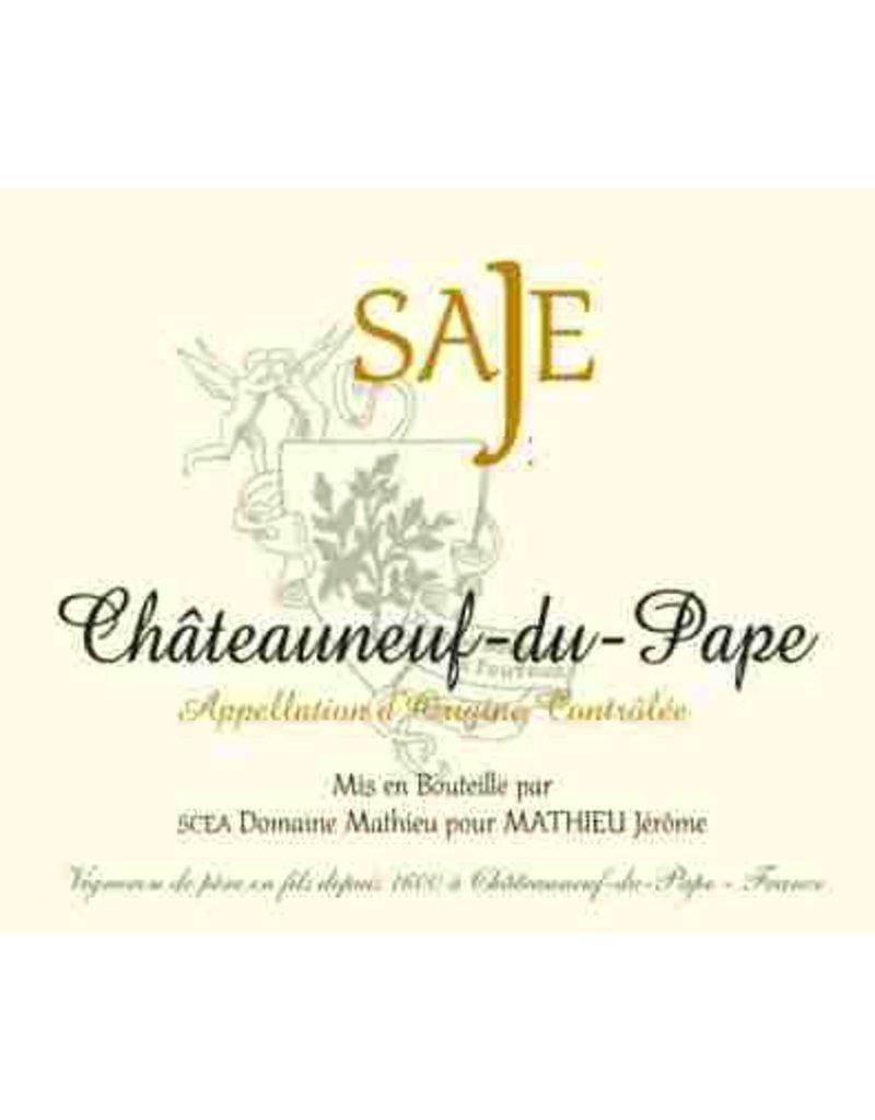 """French Wine Domaine Mathieu """"Saje"""" Chateauneuf=du-Pape Rouge 2013 750ml"""
