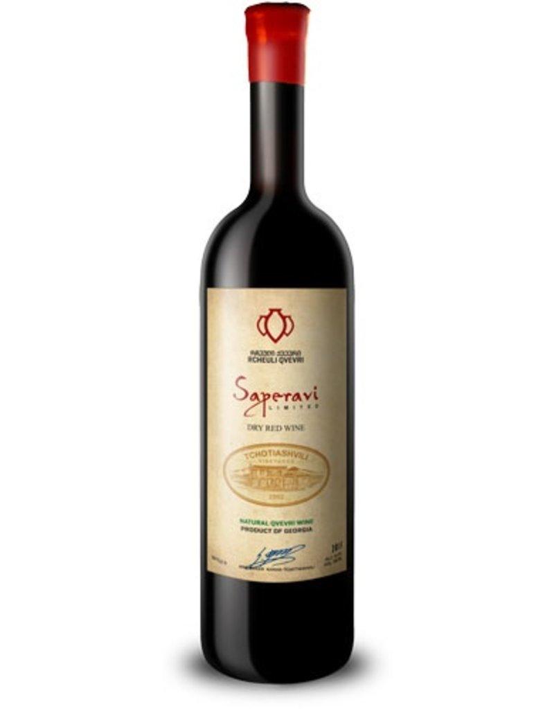 "Eastern Euro Wine Tchotiashvili ""Saperavi"" Dry Red Wine Kvkheti Region Georgia 2015 750ml"