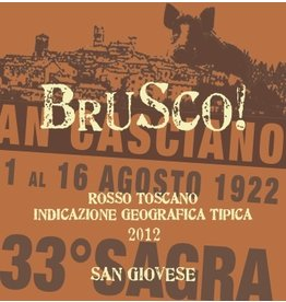 """Italian Wine Villa del Cigliano """"Brusco!"""" Rosso Toscano Sangiovese 2014 750ml"""