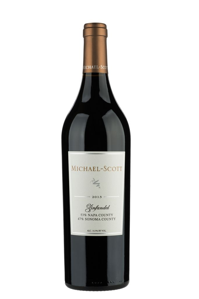 American Wine Michael-Scott Zinfandel 53% Napa County, 47% Sonoma County 2013 750ml