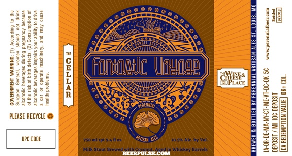"Beer Perennial ""Fantastic Voyage"" Milk Stout Brewed with Coconut 750ml"