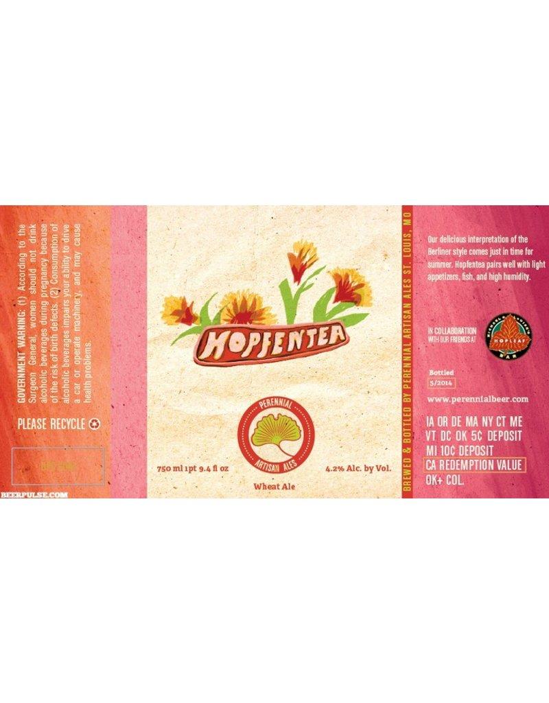 """Beer Perennial """"Hopfentea"""" Berliner Weisse-Style Ale with Tropical Tea 750ml"""