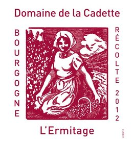 "French Wine Domaine de la Cadette ""L'Ermitage"" Bourgogne Rouge 2015 750ml"