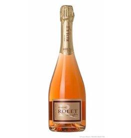 Swiss Wine Domaine Rolet Pere & Fils Cremant du Jura Brut Rosé 750ml