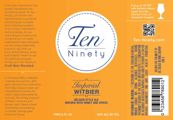 Beer Ten Ninety Imperial Witbier 10.1% abv 750ml