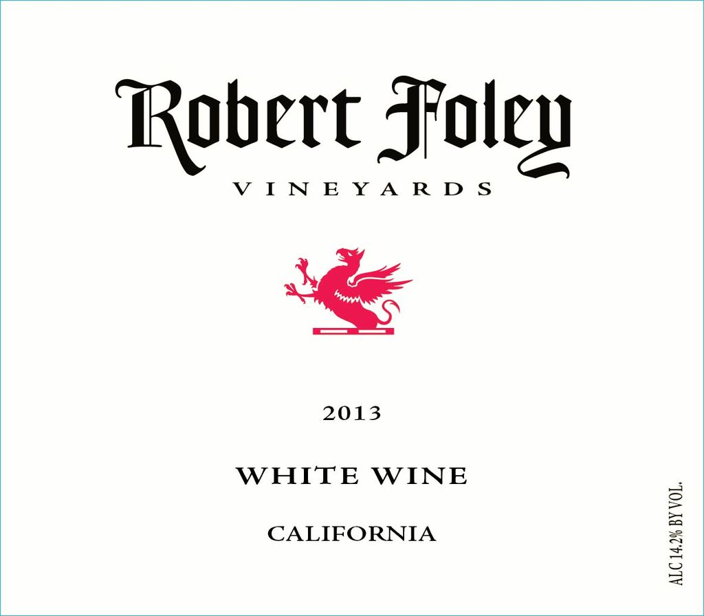 American Wine Robert Foley Vineyards White Wine California 2014 750ml