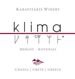 "Greek Wine Karavitakis ""Klima"" Kotsifali Merlot Crete 2014 750ml"