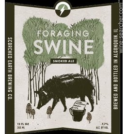 """Beer Scorched Earth Brewing """"Foraging Swine"""" Smoked Ale 4pk"""
