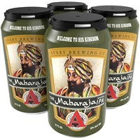 "Beer Avery Brewing ""Maharaja"" IPA 4 Pack Cans"