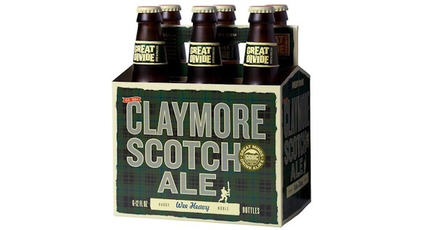 """Beer Great Divide """"Claymore"""" Scotch Ale 6pack Bottles"""