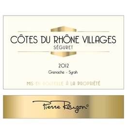 French Wine Pierre Rougon Cotes du Rhone Village Séguret 2014 750ml