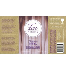Beer Ten Ninety Jagger Tripel aged in Bourbon barrels 750ml
