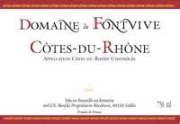 French Wine Domaine de Fontvive Cotes du Rhone Rouge 2016 750ml