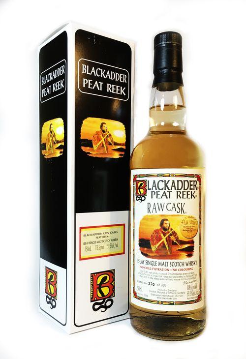Scotch Blackadder Peat Reek Raw Cask Exclusively Selected by The GuilD 60.3% abv Hogshead Cask # PR2018-2 750ml