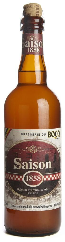 Beer Bocq Saison 1858 Belgian Farmhouse Ale 750ml