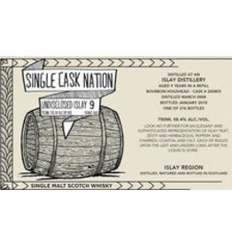 Scotch Single Cask Nation Undisclosed Distillery Islay 9 Year Single Malt Scotch 58.4% 276 bottles produced 750ml