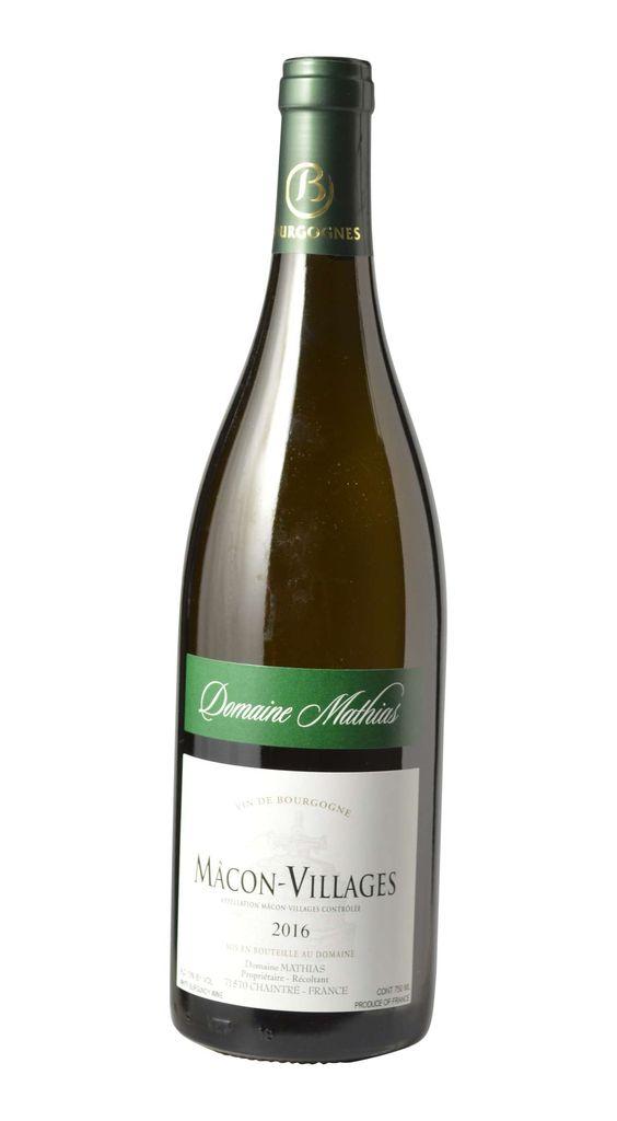 French Wine Domaine Mathias Macon-Village 2016 750ml