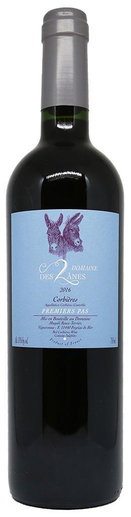 """French Wine Domaine des 2 Ånes """"Premiers Pas"""" Corbieres 2017 750ml"""