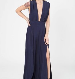 Stillwater Plunging Neck Maxi Dress