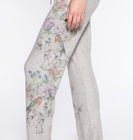 PJ Salvage Floral Bird Banded Pant