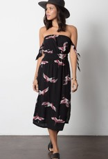 Stillwater Cranes of Good Fortune Midi Dress