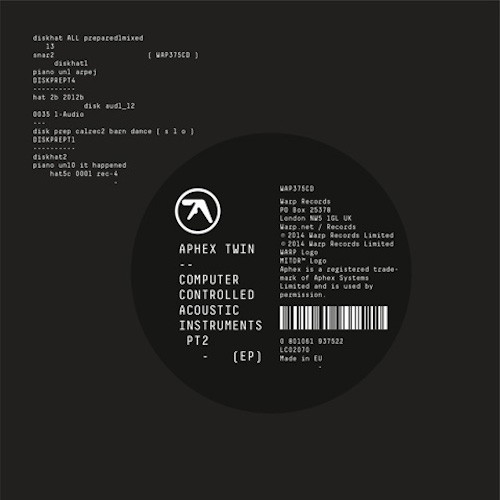 """Aphex Twin - Computer Controlled Acoustic Instruments Pt2 EP 12"""""""