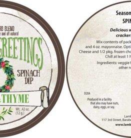 Lambs & Thyme Holiday Dips Seasons Greetings