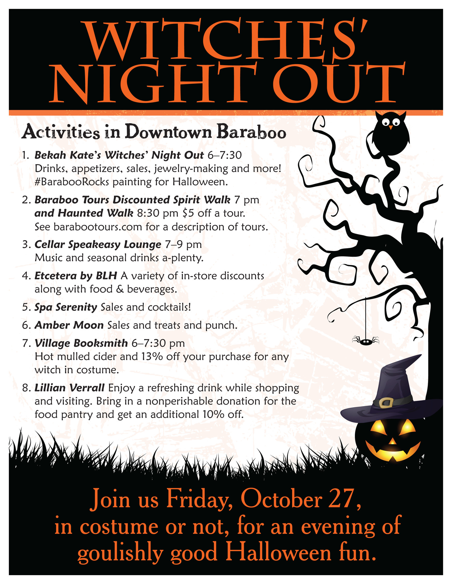Witches' Night Out in Downtown Baraboo