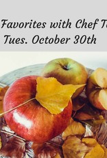 Fall Favorites Cooking Class 10/30/18