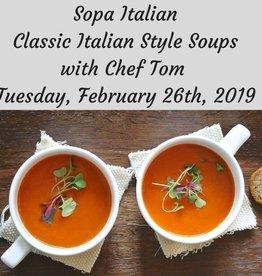 Sopa Italiano -Italian SoupsCooking Class 2/26/19