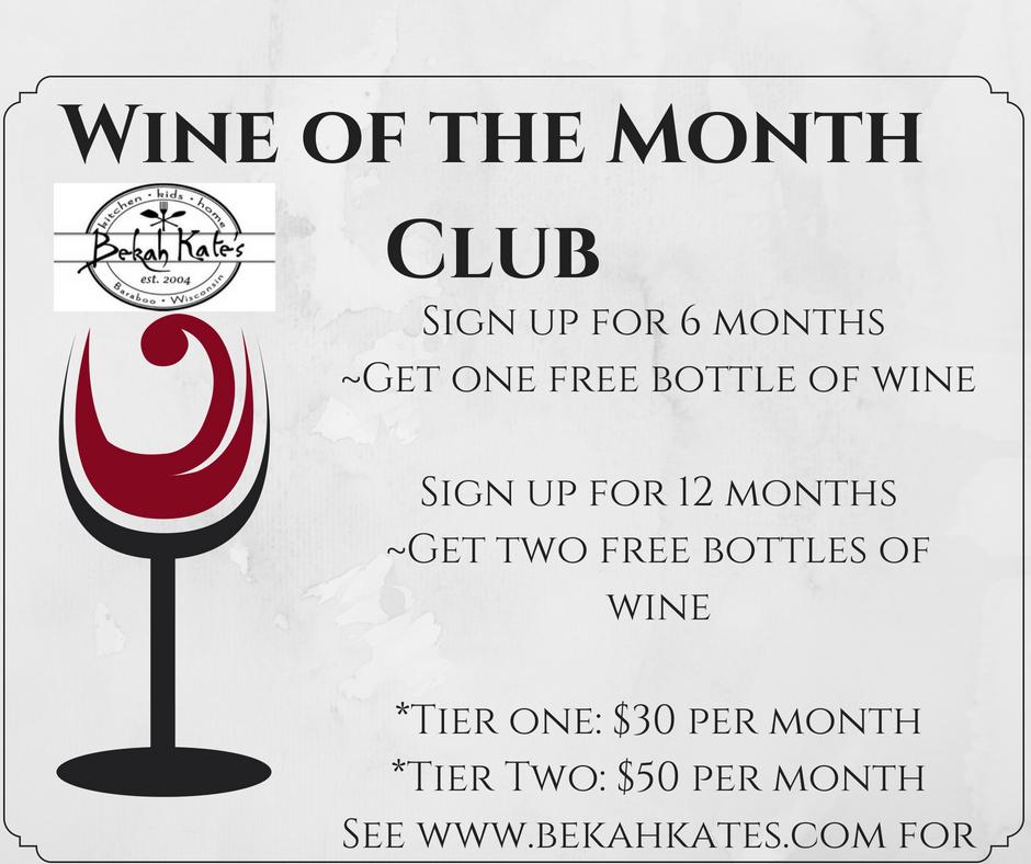 Bekah Kate's Wine of the Month Club