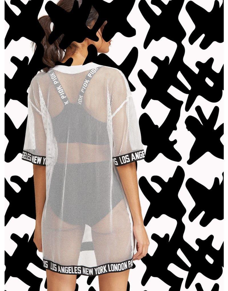 White Fishnet Dress
